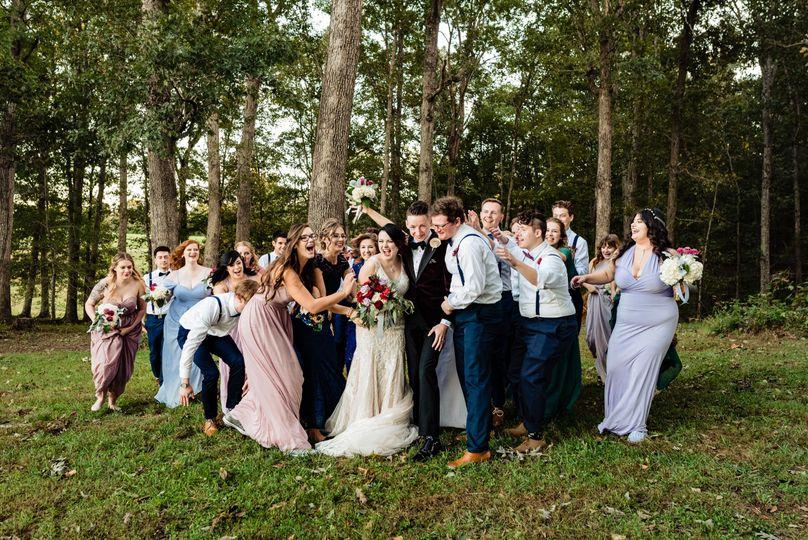 Large, fun wedding parties