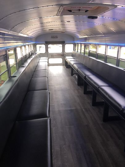 Inside of bus.