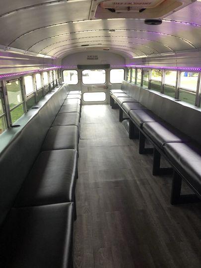 Inside of bus.