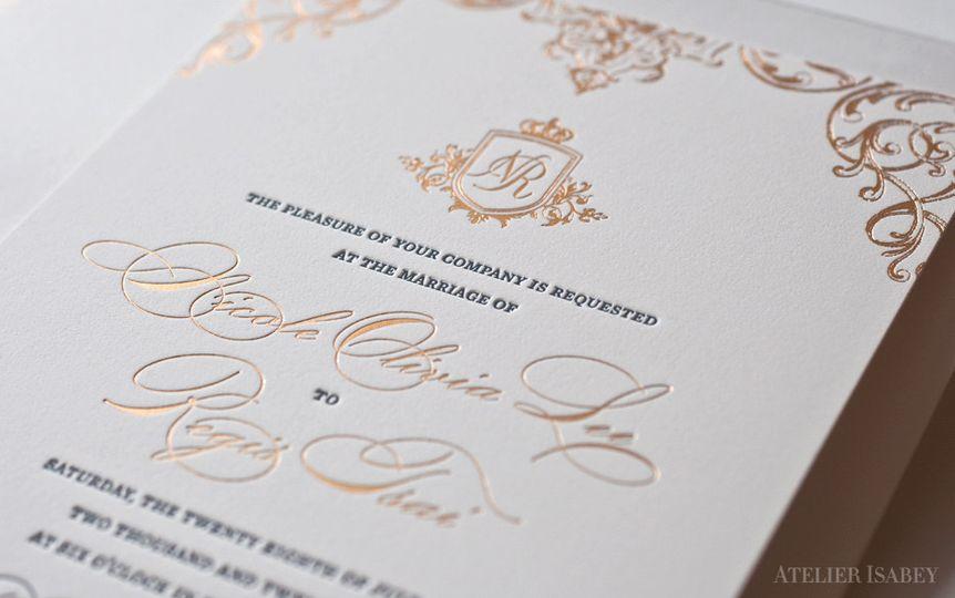 collection palais regal gold wedding invitation 2