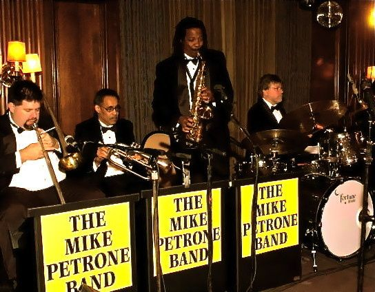 The Mike Petrone Band, (ten-piece) at The Union Club, Cleveland, Ohio.  Fall wedding.