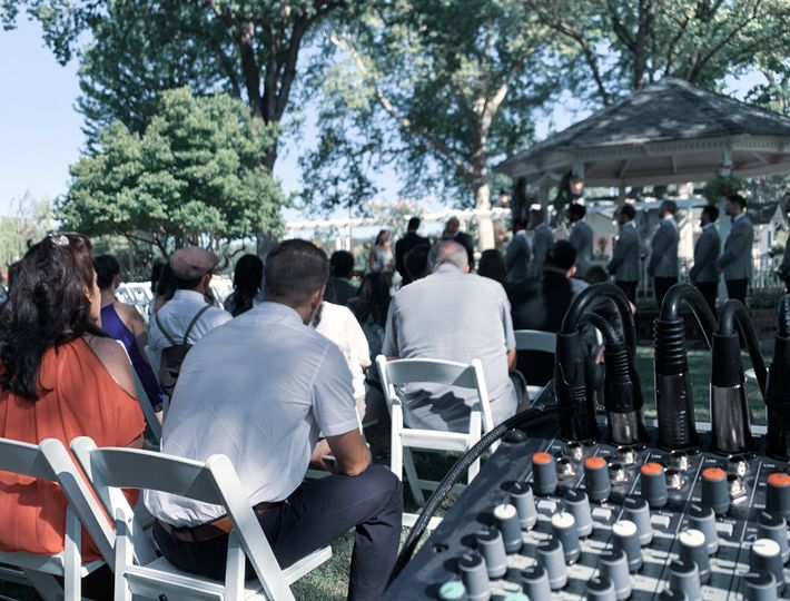 Wedding ceremony at Gover Ranc