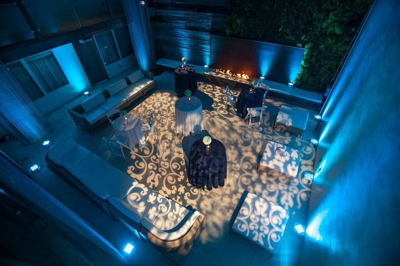 Illuminated reception space