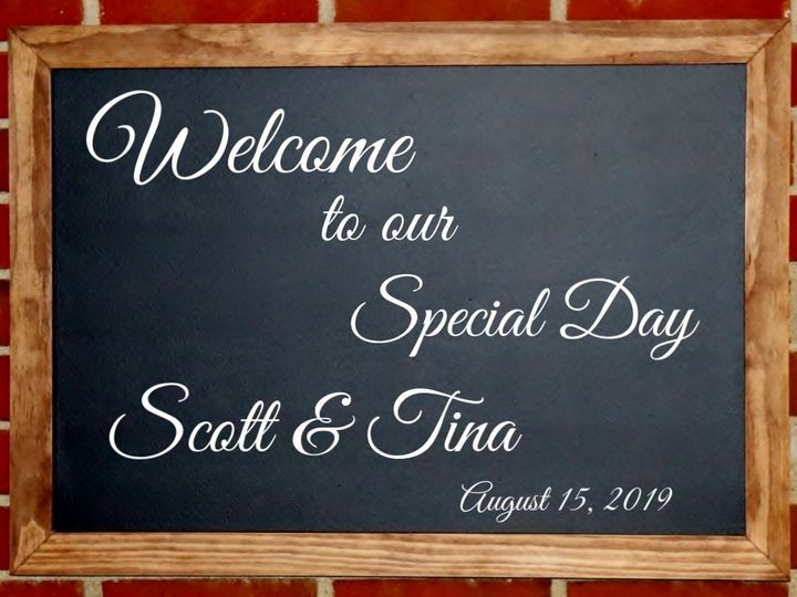 Tmx Chalkboard Welcome Sign 51 1050957 Carroll, OH wedding eventproduction
