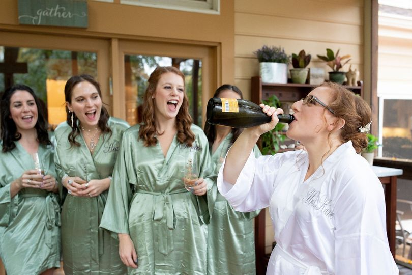 Cheers to the bride
