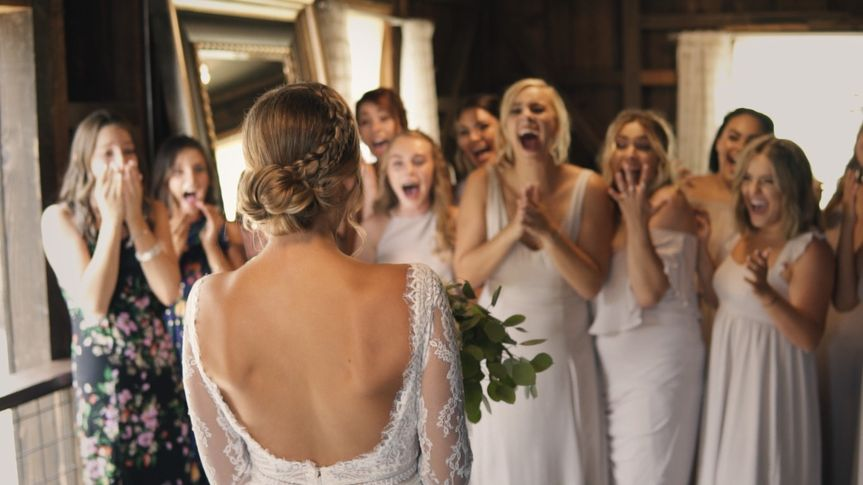 The bridesmaids are excited