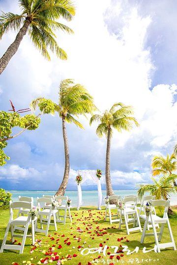 A tropical ceremony
