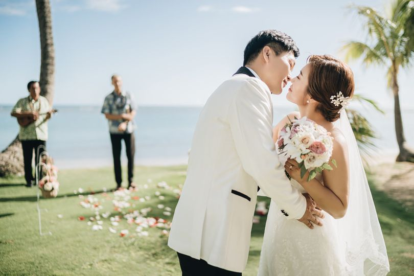 Blissful newlyweds
