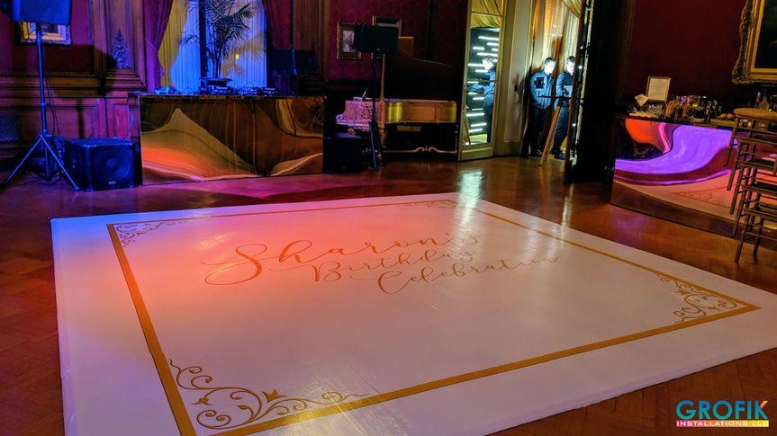 Custom vinyl dance floor
