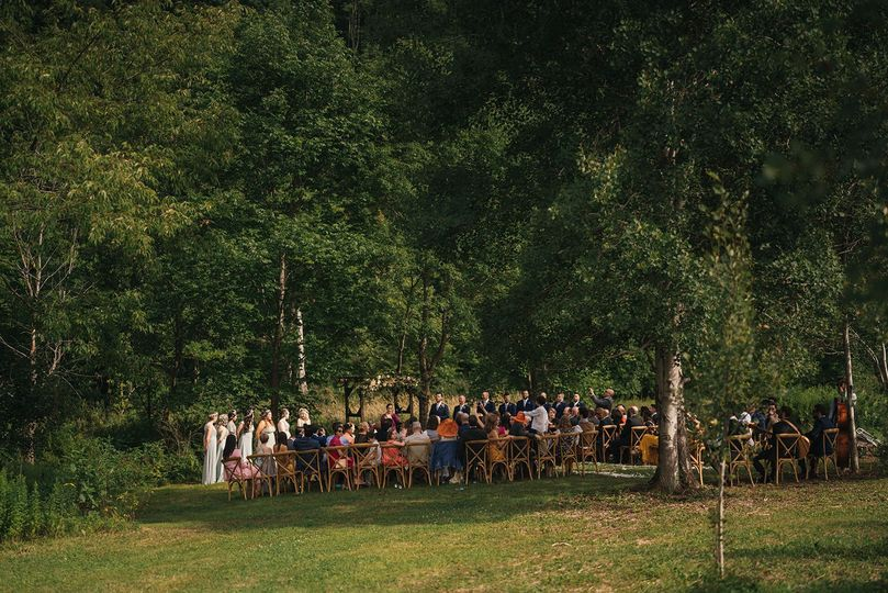 NEW Woodsy Ceremony Spot for this lovely French-American Wedding