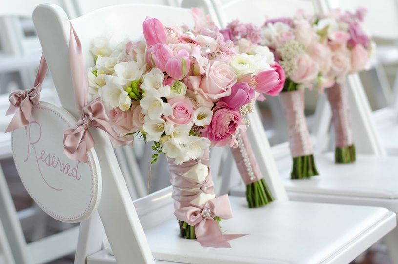 pink bouquets inception photography