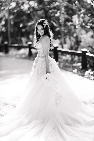 A picture perfect bride.