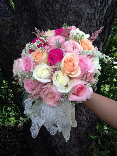 Pink, orange, white bouquet