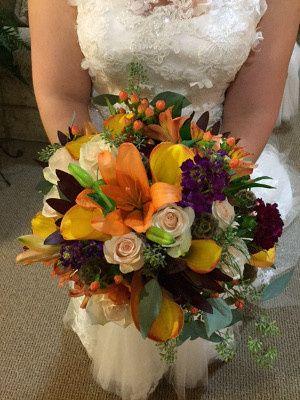 Warm toned bouquet
