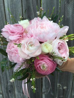 Tmx 1467139429842 Blush Pink Peony And Rannunculus Clutch Burlap Wra Rockwall, Texas wedding florist