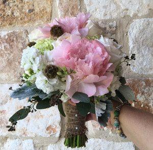 Tmx 1467140530010 Peony And Hydrangia Clutch Twine Wrap Rockwall, Texas wedding florist