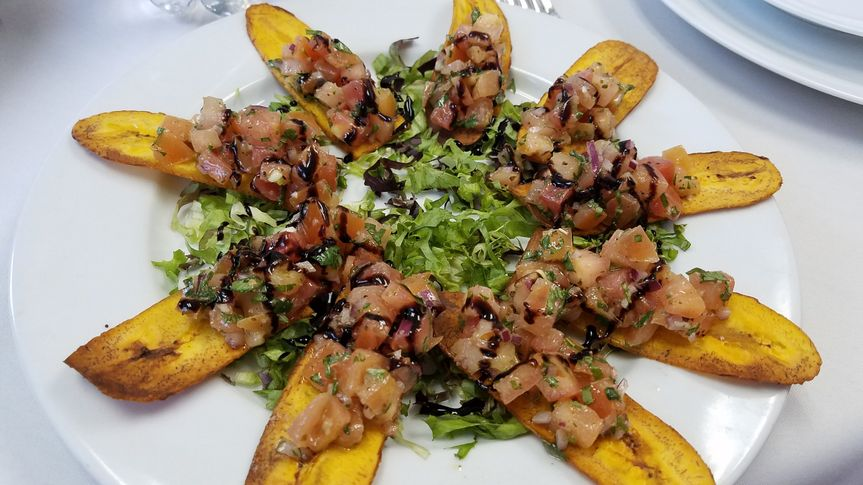 Bruschetta on Plantains