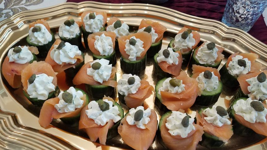 Appetizing hors d'oeuvres