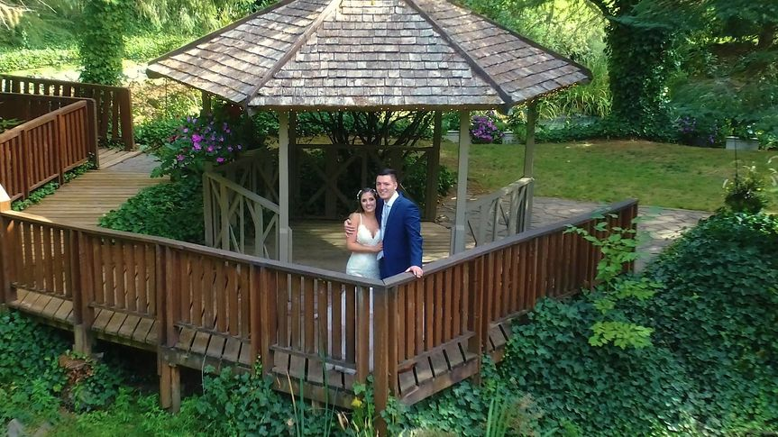 The gazebo drone pictures