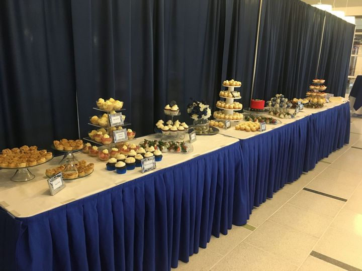 Dessert table feeds 125 guests