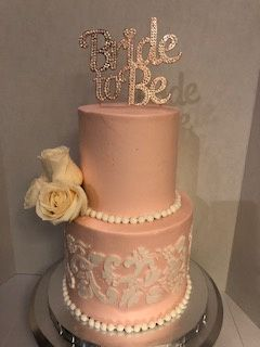 Blush bridal shower cake
