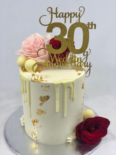 Drip Anniversary Cake