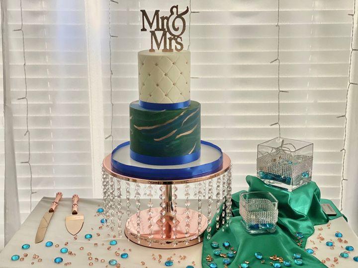 Royal Blue&Emerald Cake