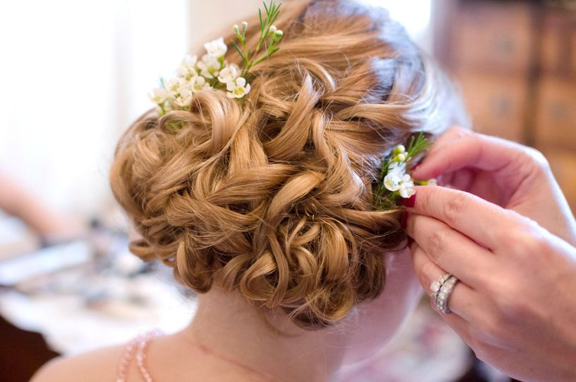 Floral hair decorations