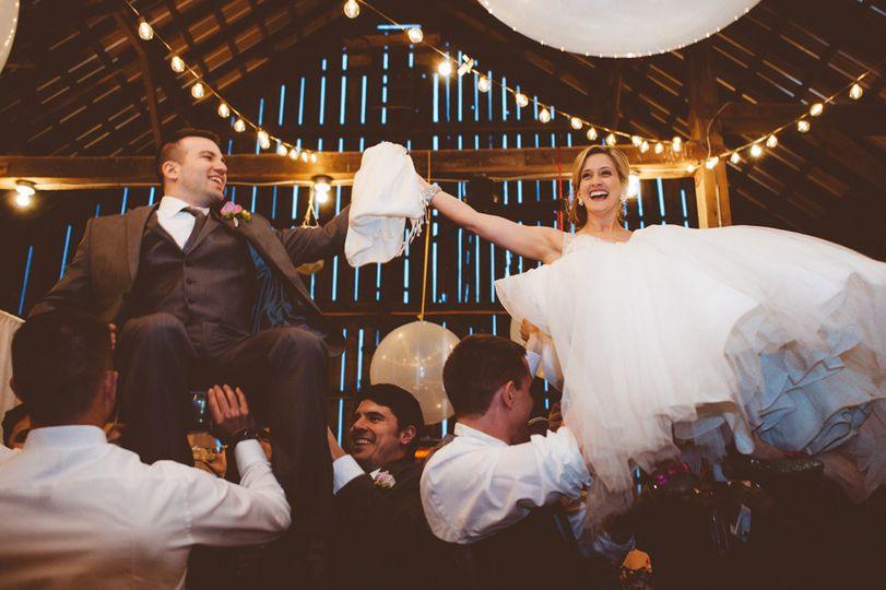 Barn wedding celebration