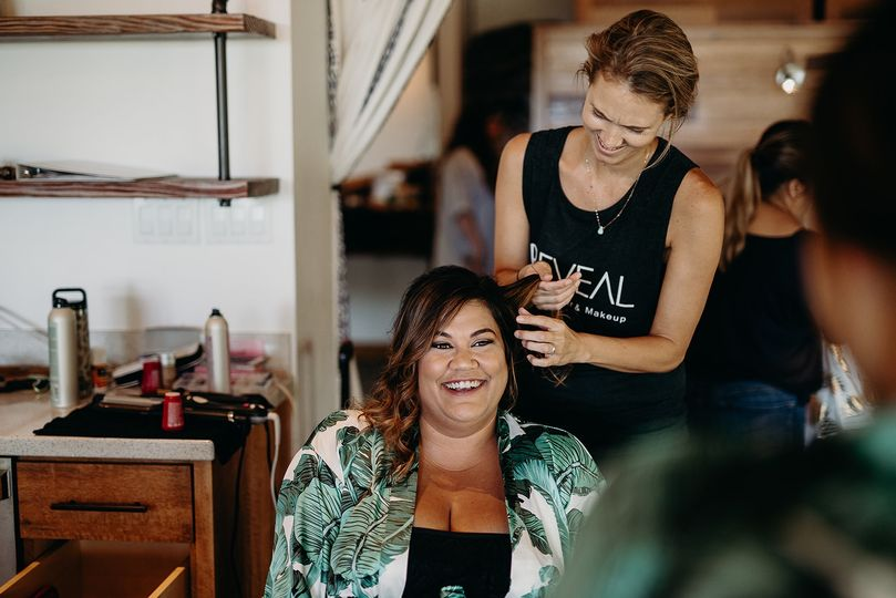 Oahu beach wedding hair makeup