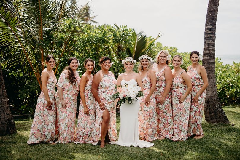 Hawaii wedding Hair makeup