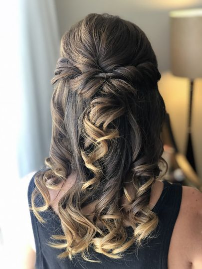 Half Up Bride