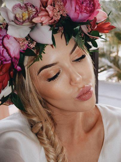Photoshoot hair and makeup