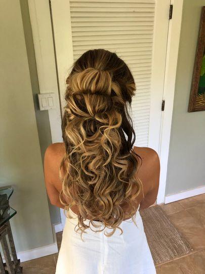 Hawaii wedding hair and makeup