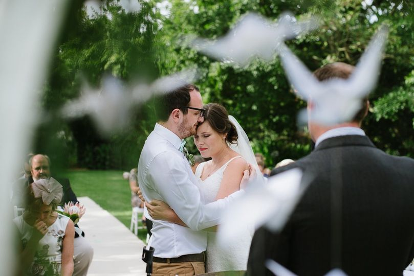 Origami wedding ceremony