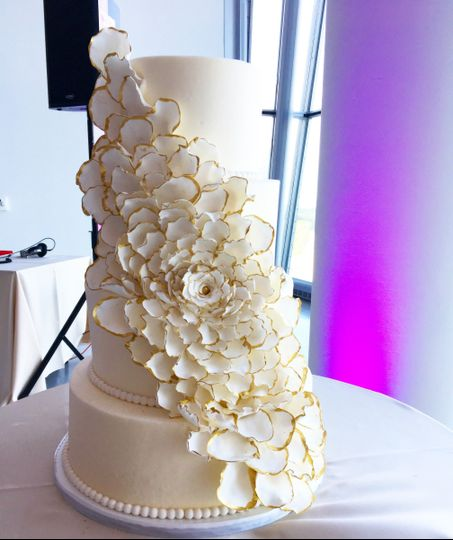 Four tier floral wedding cake