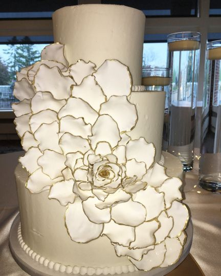 Three tier large floral cake