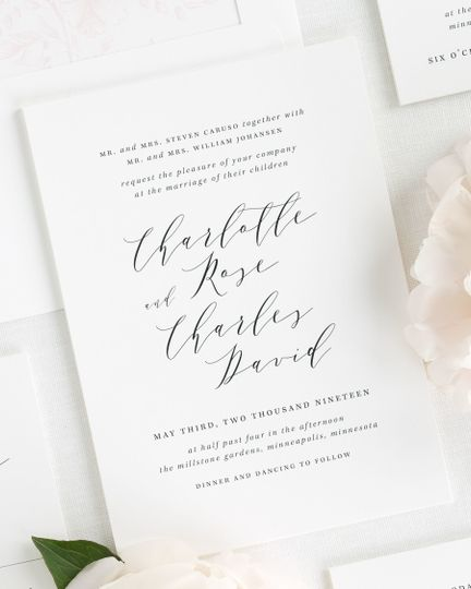 Shine wedding invitations invitations weddingwire 800x800 1495138000372 charlotte wedding invitations 1 stopboris Gallery