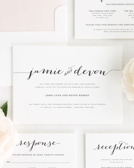 Shine Wedding Invitations Invitations WeddingWire