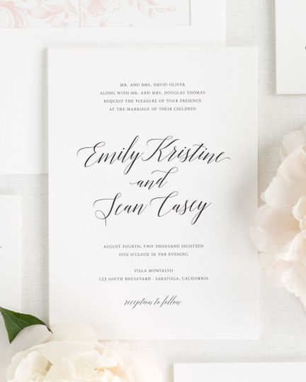 Shine Wedding Invitations - Invitations - WeddingWire
