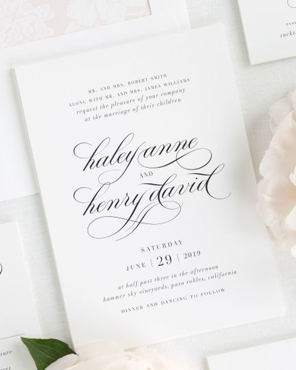 Shine Wedding Invitations - Invitations - WeddingWire