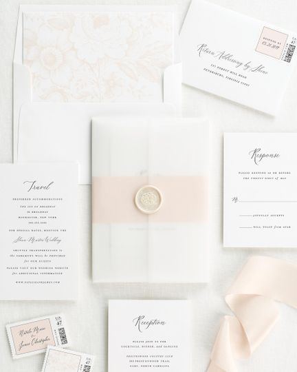 Vellum and white wax seal
