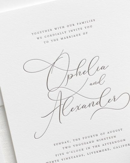 Light and airy letterpress