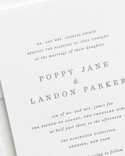 Simple letterpress invite