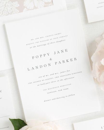 Serif simple wedding invite