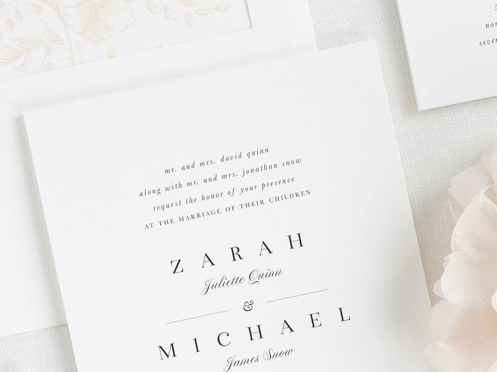Tmx 1495138543887 Zarah Wedding Invitations 1 Rochester, New York wedding invitation