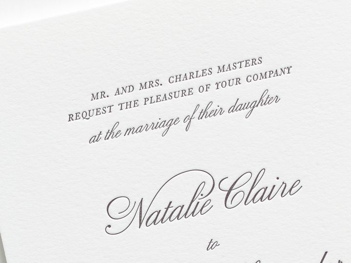 Tmx 1495225830644 Classic Script Letterpress Wedding Invitations 2 Rochester, New York wedding invitation