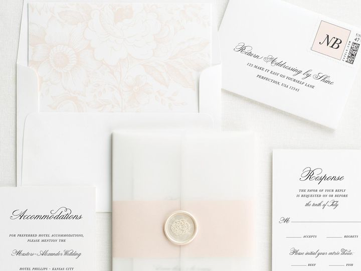 Tmx Classic Script Vellum Wedding Invitations 3 51 410067 Rochester, New York wedding invitation