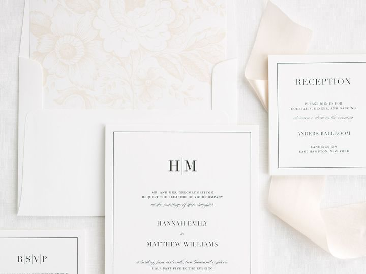 Tmx Glam Monogram Ribbon Wedding Invitations 2 51 410067 Rochester, New York wedding invitation