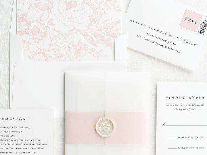 Tmx Poppy Vellum Wedding Invitations 3 51 410067 Rochester, New York wedding invitation